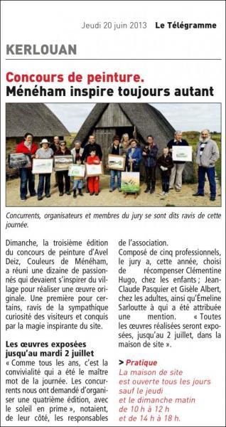 Ménéham Article concours de peinture 2013