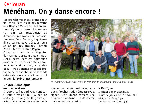 Article le telegramme 29 08 15 paotred pagan